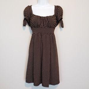 HeartSoul Brown Polka Dot Dress